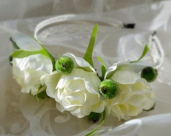 Wedding headband, Bridal Headband, Bridal Hair Accessory, Flower headband, Wedding hair Accessory, Flower Crown