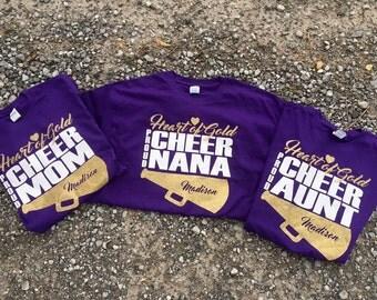 Cheer supporter tee shirt