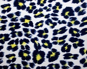 Leopard print Lycra/Spandex 4 way stretch Finish Fabric