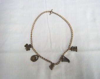Vintage lucky charm neckalce