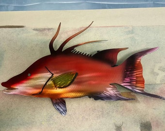 Metal art hogfish