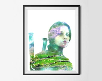 Felicity Jones/Jyn Erso Star Wars Inspired Print,Wall Art, Wall Decor,Donegal.Ireland Landscape,White Backround