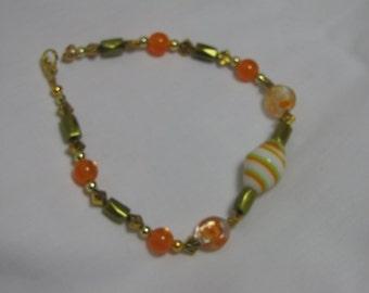 """9.5"""" gold magnetic bead bracelet"""