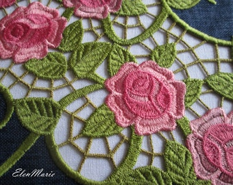 Roses Cutwork Lace -  Machine Embroidery Design  6*10, 7*10