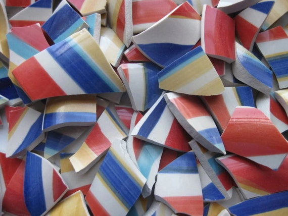 Mosaic tiles stripe tiles broken plate 197 pieces jewelry for Mosaic pieces for crafts