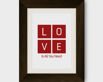 Love Is All You Need  - Poster **Great Price**