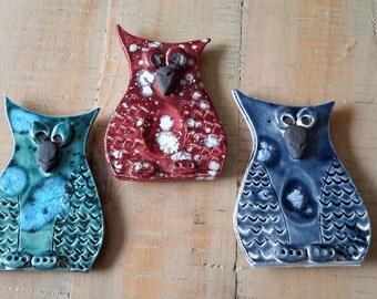 Hoot Hoot owl fridge magnets (set of 3)