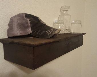 Rustic Book Shelf with hidden compartment.