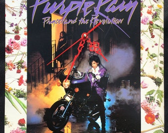 Purple Rain Clock