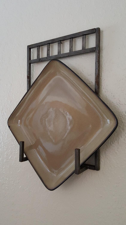 iron wall plate holder. Black Bedroom Furniture Sets. Home Design Ideas