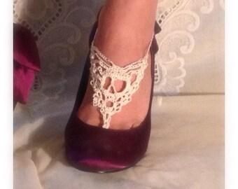 Skull barefoot sandals