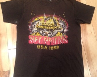 Items Similar To Vintage Scorpions Pin Back Button 1980s