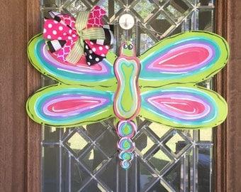 Bright Dragonfly Door Hanger Summer and Spring Door Hanger