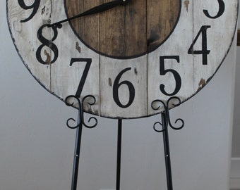 27 inch Rustic Hand Painted Clock