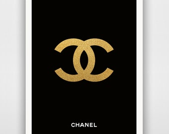 Coco Chanel - I don't do fashion, I am fashion, Print Fashion Typography, Motivational Wall Art Print Digital Art, Coco Chanel poster