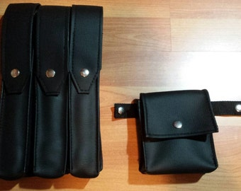 Synthetic leather pouches 3+1