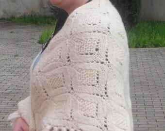Knitting Pattern Blanket Wrap : Knitting Pattern DIY knit shawl Shawl pattern Knit shawl