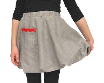 Handmade Ruffled Skirt with a Bow