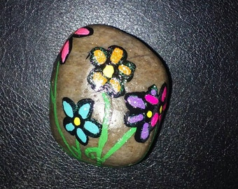 Cute Floral Stone Paperweight or Decor