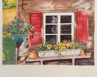 PRINT-Garden Window Box (Ryegate,Vt.)