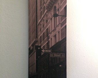 "Downtown Canvas 36""x12"""