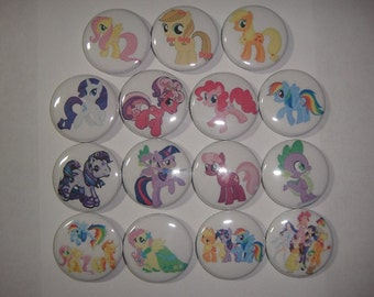 My Little Pony Buttons Set of 15