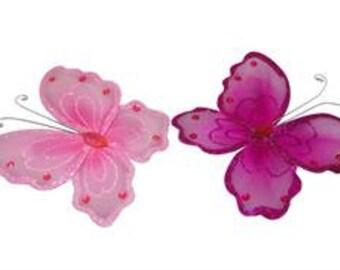 Organza Butterflies 6 pcs