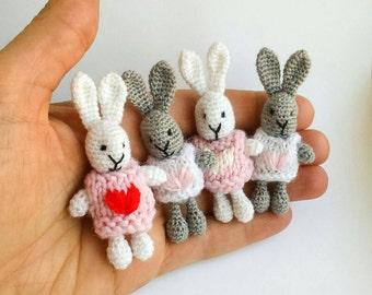 Rabbit Amigurumi. Crochet Easter Bunny. Rabbit with a Heart.