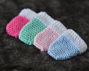 Newborn Scratch Mittens, Crochet Thumbless Mittens, Baby Girl Gift, Baby Boy Gift