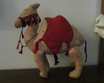 Adorable Vintage Stuffed Camel Toy circa 1930