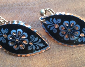 Black copper earrings