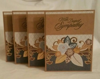 With Deepest Sympathy Card (Blank Inside), Set of 4