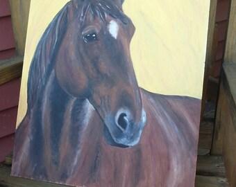 Peaceful Mare Original Horse Painting