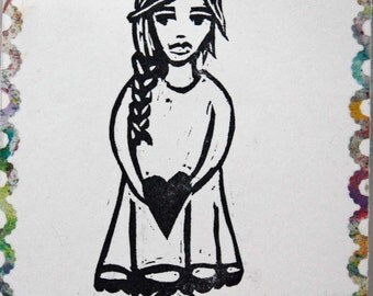 "Handcarved Stamp ""Gretchen"""