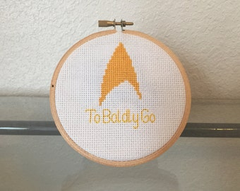 Star Trek Finished Cross Stitch Set