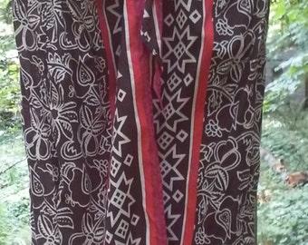 Vintage Tribal pattern Maxi skirt size 12