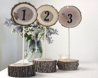 Table Numbers, Centerpieces, Rustic Wedding Table, Wood Slices, Wedding Table Decor, Table Number, Rustic Wedding, Wedding Centerpiece,