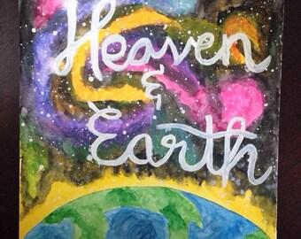 Heaven & Earth watercolor