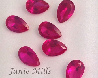 Ruby Faceted Gemstone 6 x 9mm pear