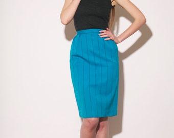 Vintage 80s Christian Dior tailored skirt