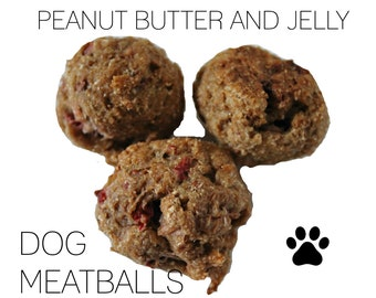 Peanut Butter and Strawberry Dog Meatballs