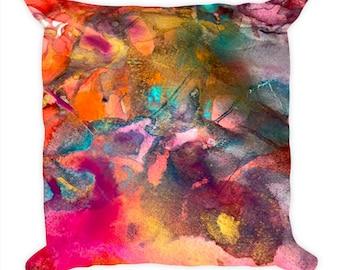 Pink Orange Pillow Cover