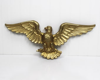 Vintage Syroco Guilded Gold Plastic Eagle c. 1963