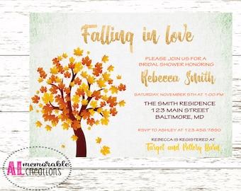 Fall bridal shower invitation – Etsy