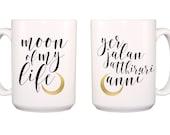Moon of My Life double-sided 15 oz. stoneware mug in English and Dothraki