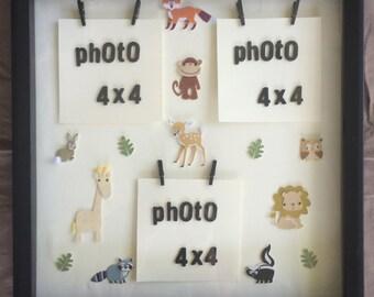 Animals II shadow box frame