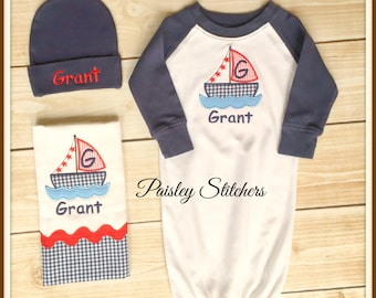 Personalized Sailboat Set