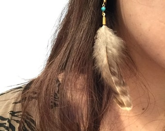 earrings made by feathers