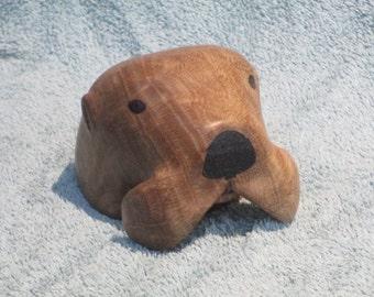 Oak Burl Sea Otter Carving