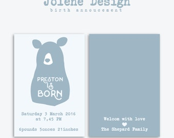 Birth Announcement _Bear_